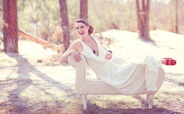 Photo : FairyDaily pour shooting Robe Coup de Coeur Garance