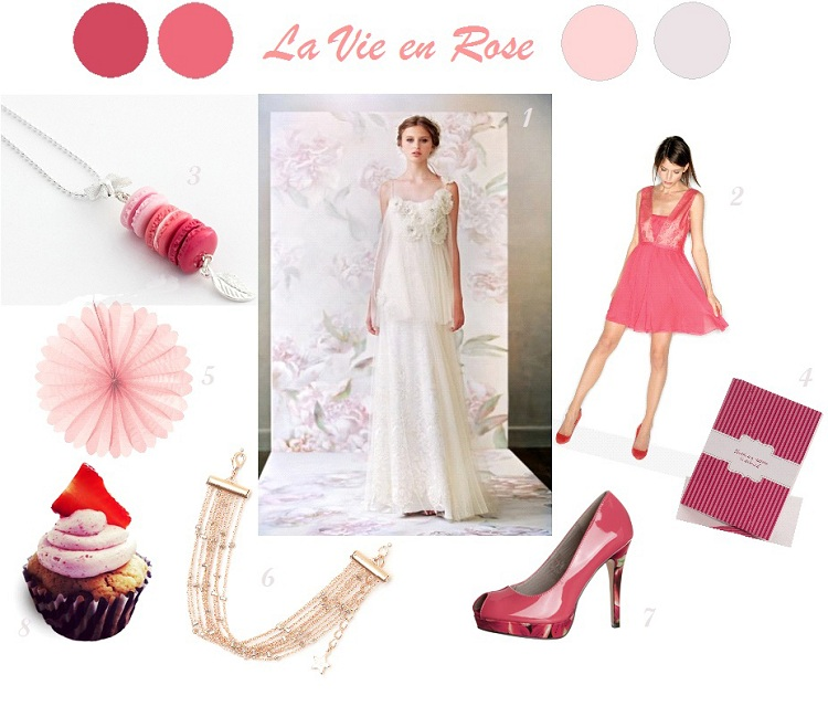decoration mariage rose