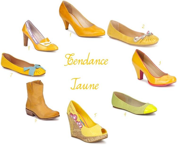 chaussures mariée jaune